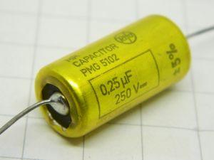 0,25uF 250V condensatore assiale carta olio RIFA MP PMG5102 vintage audio