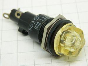 Portafusibile luminoso da pannello 6x30  FEL859