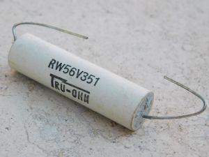 350 Ohm 15W resistor wire wound TRU-OHM RW56V351 vintage, rare