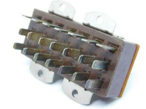 Connettore lamellare 21PIN maschio da pannello per apparati amplificazione valvolari audio, vintage