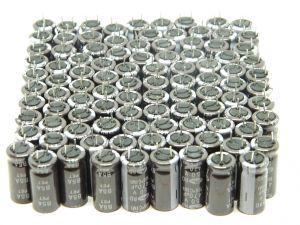 470uF 50Vcc condensatore elettrolitico  SAMWHA RD 105°C(M) B5A PET basso ESR  (lotto da n.100 pezzi)