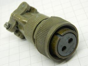 Connector MS3106E16-3S (C)  2pin plug female