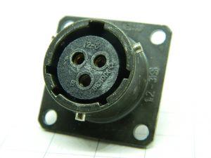 Connettore  PT02E 12-3S femmina da pannello  3pin
