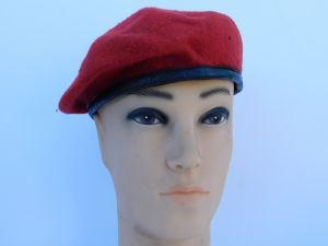 Military hat red
