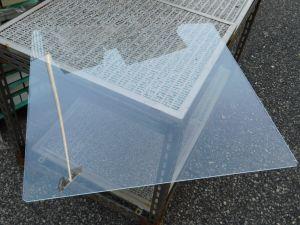 Foglio lastra policarbonato trasparente mm. 570x570x3