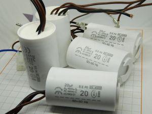 20uF 450Vac condensatore polipropilene rifasamento avviamento (n.5 pezzi)