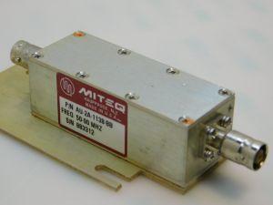 MITEQ AU.2A.1138.BB Amplifier 50-90Mhz 29db 15Vcc 75ohm