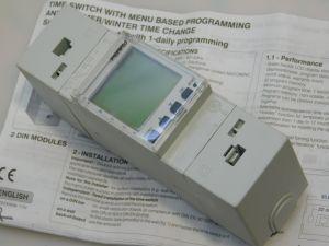 Interruttore orario programmabile Perry 1/O 1090  barra DIN