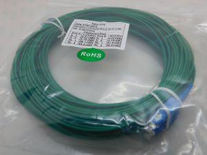Fiber optic LC/UPC-SC/UPC SM 9/125 duplex  mt.25  green