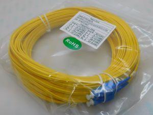 Fiber optic LC/UPC-SC/UPC SM 9/125 duplex  mt.30  yellow