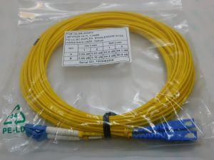 Patch cord Fibra ottica  FO LC-Sc duplex  singlemode  9/125   m.12  gialla