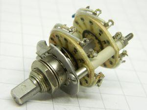 Commutatore rotante 5posizioni 4vie isolamento in fiberglass, contatti argentati