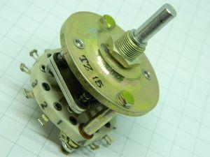 Commutatore rotante 3posizioni 1via (+ 6 contatti ausiliari) ceramico per HF