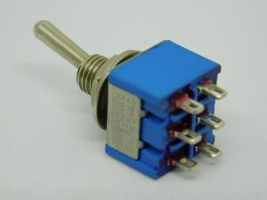 Toggle switch ON-ON  2SPDT  MTS-2  made in Germany