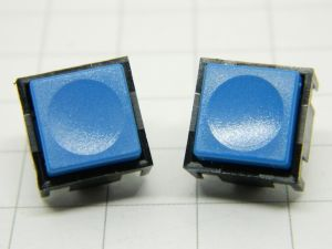 Pushbutton TRW 320069 blu 1contact n.o. pcb  12,5x12,5x10mm. (n.2pcs.)