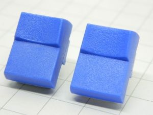 Push button JEANRENAUD DMB blu 1contact n.o. pcb  19,5x15x10mm. (n.2pcs.)