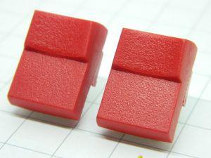 Push button  JEANRENAUD DMB red 1contact n.o.  pcb 19,5x15x10mm.  (n.2pcs.)