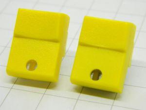 Pushbutton  JEANRENAUD DMB yellow 1contact n.o.  pcb  19,5x15x10mm.  (n.2pcs.)