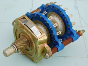 Rotary switch 15pos. 2way Unidex  blu contact silver coated