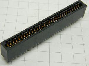 Connettore per scheda 62pin 31+31  passo mm. 2,75