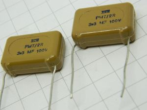 3,3uF 100V condensatore poliestere ITT PMT/2R  cross over  (n.2 pezzi)