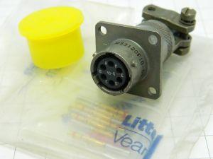 Connettore MS3120F10-6S  Veam  6pin femmina da pannello con serracavo