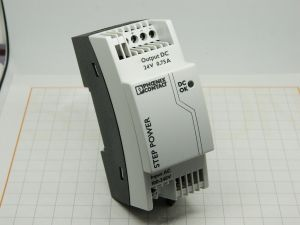 Power supply  PHOENIX CONTACT  STEP-PS/1AC/24DC/0,75   24Vdc  0,75A  DIN rail