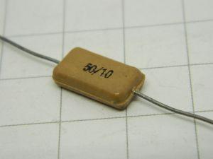 50pF 500V condensatore MICA/Ag  MIAL  vintage