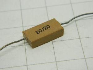 20pF 500V capacitor MICA/Ag  MIAL  vintage