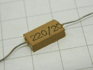 220pF 500V capacitor MICA/Ag  MIAL  vintage