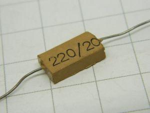 220pF 500V condensatore  MICA/Ag  MIAL  vintage
