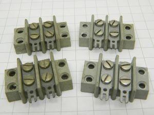 Morsettiera Kulka 2 posti passo mm.11  (n.4 pezzi)