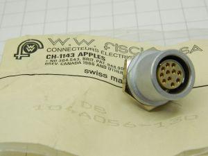 Connettore Fischer DB 104A056-130  11pin femmina da pannello