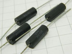 100ohm  1%  0,5W  resistenza EBG  RN70E  non induttiva  MIL spec. (n.4 pezzi)