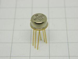 MD7001 transistor doppio MOTOROLA  TO5 gold