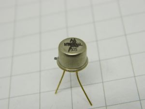 MM4002 transistor Motorola  TO5  gold