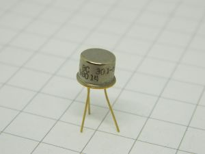 BC301 transistor TO5  gold