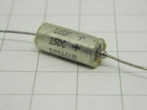 68MF 15Vdc  Sprague tantalum capacitor axial