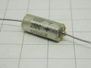 68uF 15Vcc  Sprague condensatore al tantalio assiale