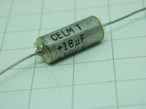 18MF 50Vdc  CELM  tantalum capacitor axial