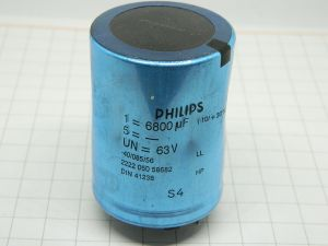 6800MF 63Vdc capacitor PHILIPS 2222 050 58682
