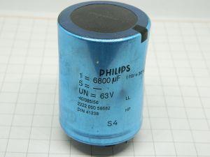 6800uF 63V condensatore elettrolitico PHILIPS 2222 050 58682