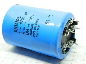 4700uF 100V condensatore elettrolitico PHILIPS 2222 051 59472
