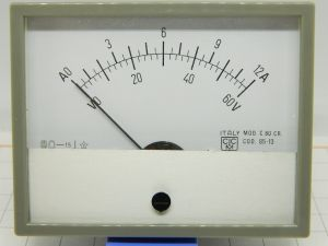Strumento da pannello doppio 60Vcc 12Acc