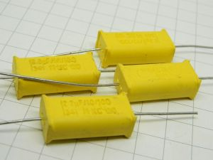 2,2MF 100V capacitor MKC Philips  chicklet B41, cross over (n.4pcs.)