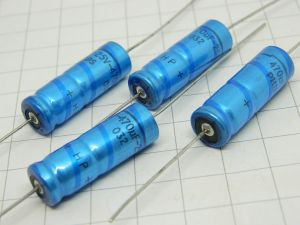 470MF 25Vdc  axial capacitor Philips HP  (n.4pcs.)