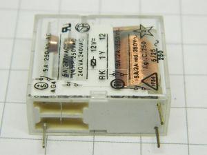 Potter & Brunfield  RK 1Y 12  relè 12Vcc  1contatto N.O.  5A  250Vac