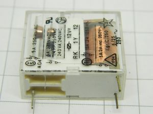 Potter & Brunfield  RK 1Y 12  relay 12Vcd  1contact N.O.  5A  250Vac