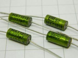 0,033uF 250V  condensatore assiale ERO MKT1813  (n.4 pezzi)
