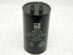 3,15uF 400Vac condensatore CEME MKP PMP/2B  polipropilene  metallizzato